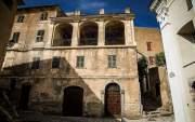 Place Sainte-Croix, Speloncato, Corsica, France
