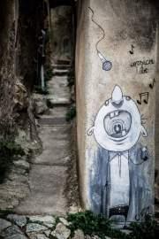 Graffiti, Pigna, Corsica, France