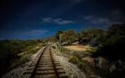 Railroad Calvi / Ile Rousse., Corbara, Corsica, France