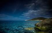 Ghjunchitu beach, Corbara, Corsica, France
