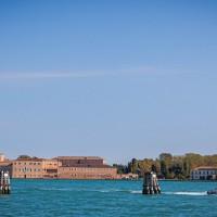 Vu sur San Giorgio Maggiore depuis le Fondamenta a Zaterre Al Ponte Longo