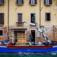 A Venise, les entrepreneurs ont troqués leurs utilitaires pour des bateaux