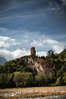 Vue du château Sainte-Marie depuis Soula